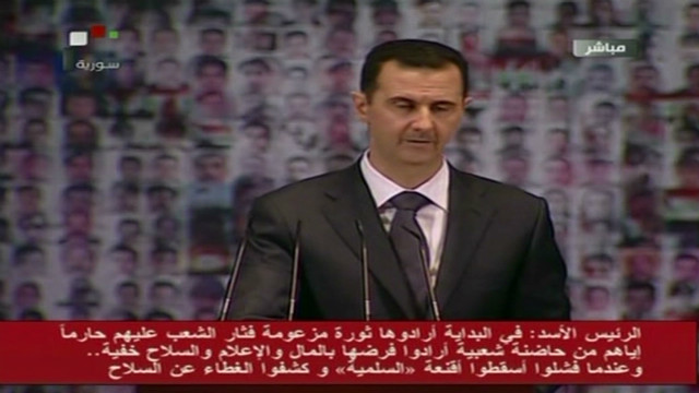 Syrian President Assad makes rare speech