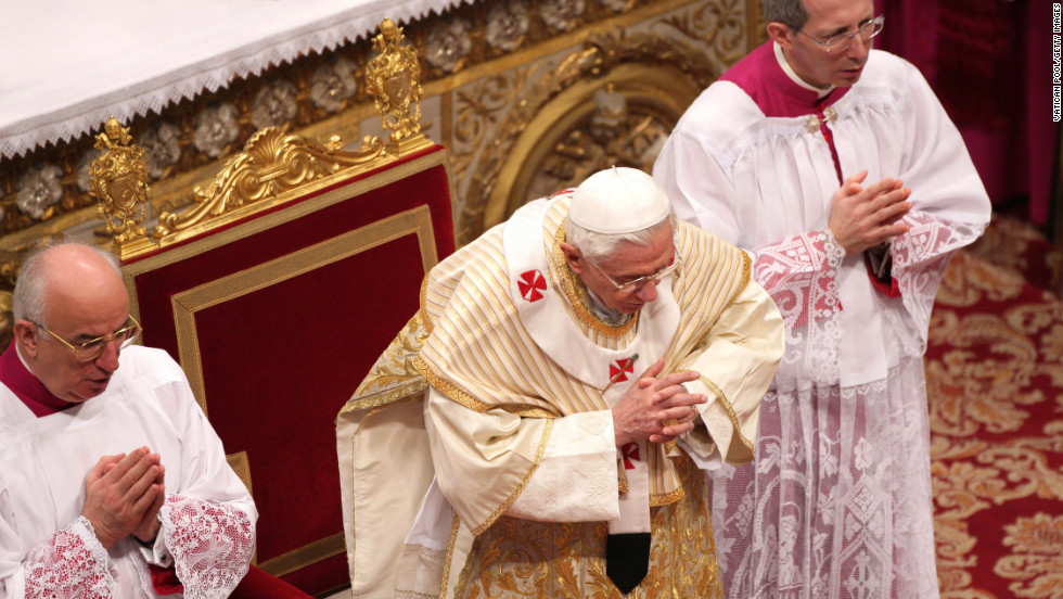 The pope celebrates the Epiphany Mass at St. Peter's Basilica on Sunday.