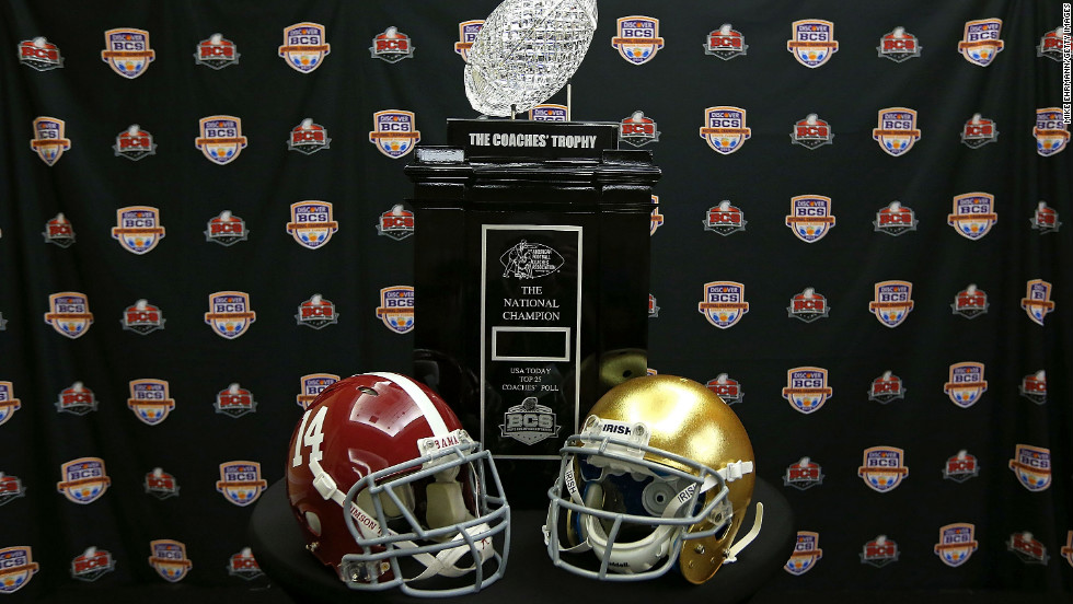 "The Coaches' Trophy is up for grabs when No. 1 Notre Dame meets No. 2 Alabama in the <a href=""http://sportsillustrated.cnn.com/college-football/news/20130101/alabama-notre-dame-bcs-preview-hub/"" target=""_blank"">Discover BCS National Championship</a> game Monday night in Miami."