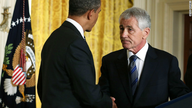 Former Sen. Chuck Hagel was nominated by President Obama for defense secretary.