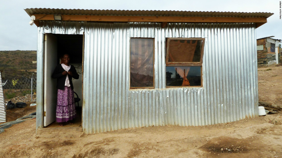Plaatjie, a domestic worker employed once a week, says her family's life has improved significantly after relocating to the iShack.