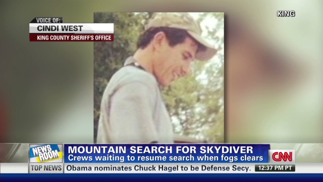 Search for missing skydiver halted