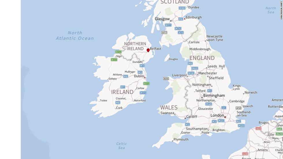 Northern Ireland Fast Facts CNN - Northern ireland map