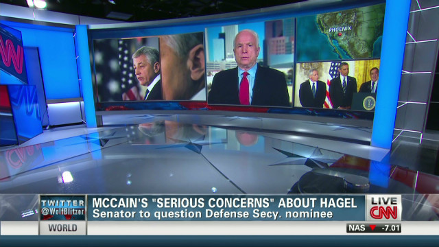 McCain's 'serious concerns' about Hagel