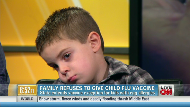 4-yr-old banned for not getting flu shot