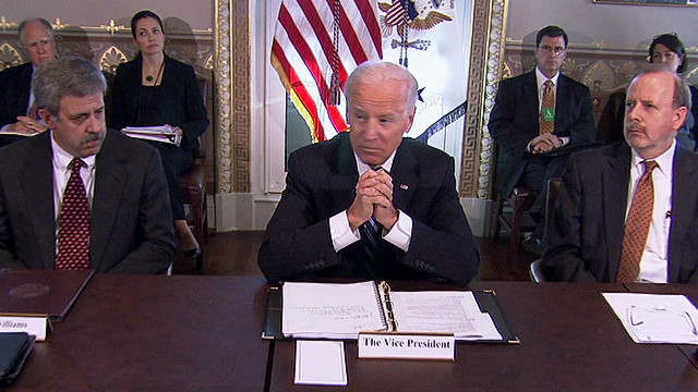 Biden and NRA talk gun control