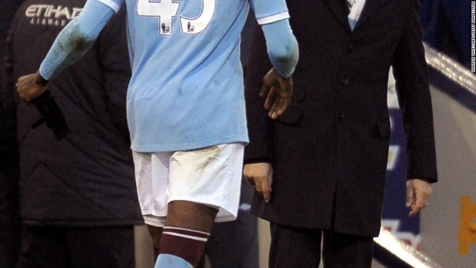 Mancini was Balotelli's first coach at Inter Milan and the pair were reunited in 2010 when the striker joined Manchester City. The start of Balotelli's City career was disrupted by injury, but he finally scored his first Premier League goals in a 2-0 away win at West Bromwich Albion. His joy at netting a brace was short-lived, however, as he was sent off after picking up two yellow cards.