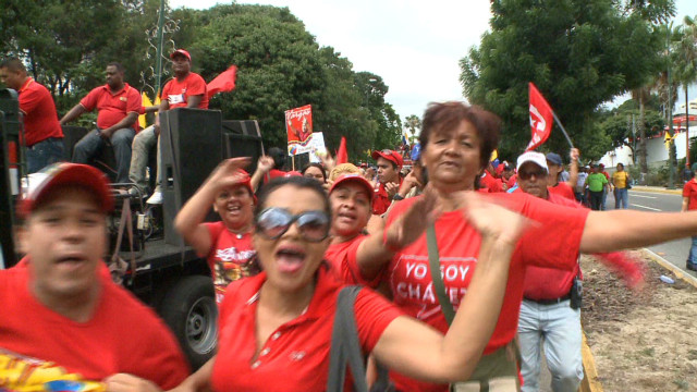 Chavez supporters stage rally