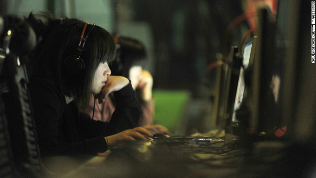 People at an internet cafe in Beijing, China, on May 12, 2011.