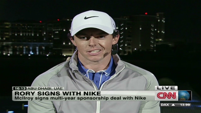 Golfer Rory McIlroy signs with Nike