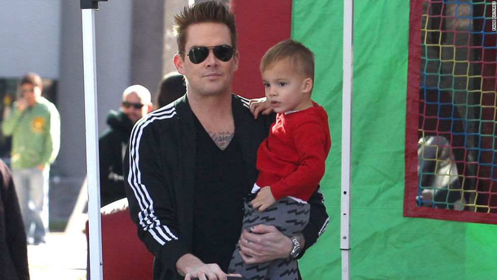 Mark McGrath spends time with his family in Studio City, California.