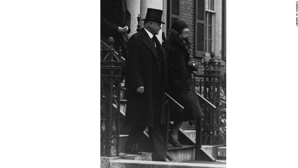 Herbert and Lou Hoover at President Hoover's 1929 inauguration.