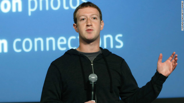 "Facebook CEO Mark Zuckerberg introduces the company's ""Graph Search"" tool at a January press event."