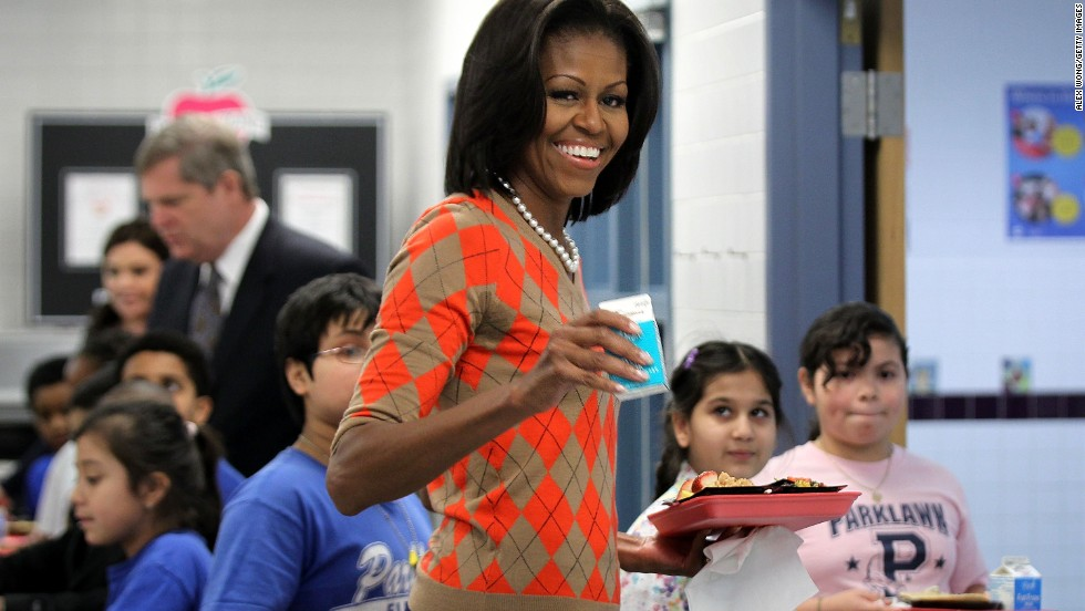 For a January 2012 lunch with Parklawn Elementary School students in Alexandria, Virginia, Obama wore an argyle sweater from J. Crew. The sweater has made multiple appearances since.