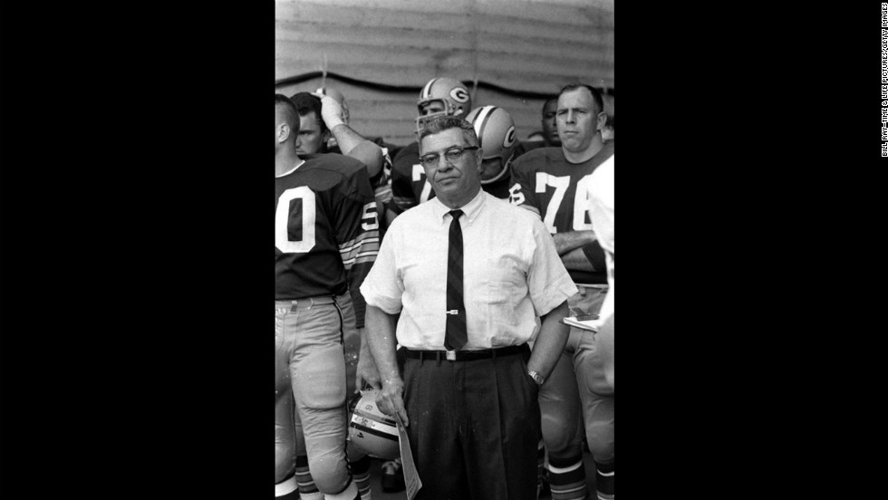 Packers head coach Vince Lombardi, Super Bowl I, 1967.
