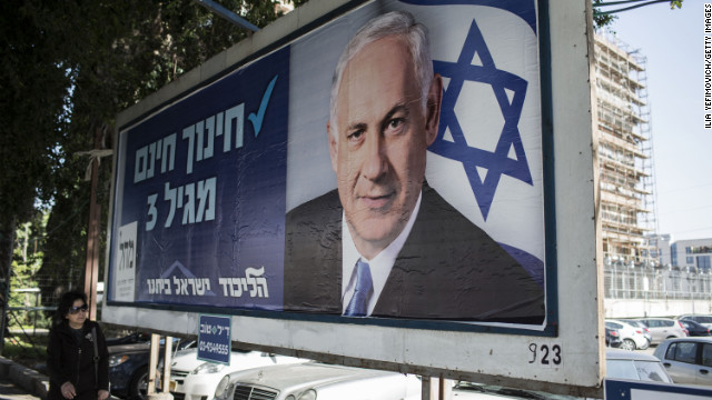 Campaigning continues ahead of national elections In Israel on January 16, 2013 in Tel Aviv.