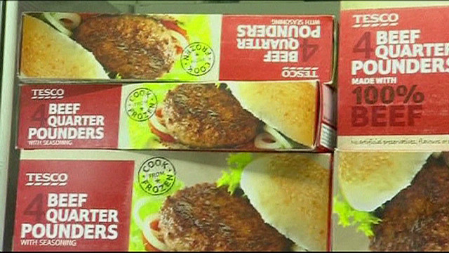 Horse, pig meat found in frozen burgers