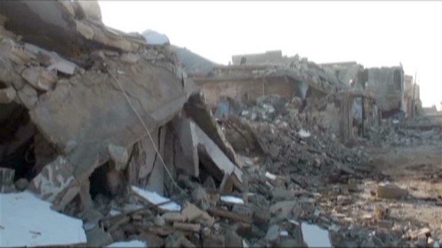 Homes, people bombed in Syria