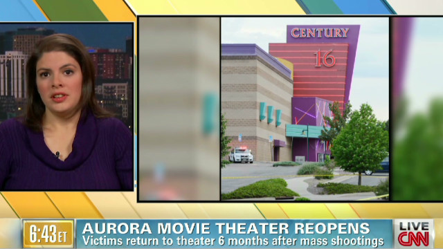 Aurora movie theater reopens