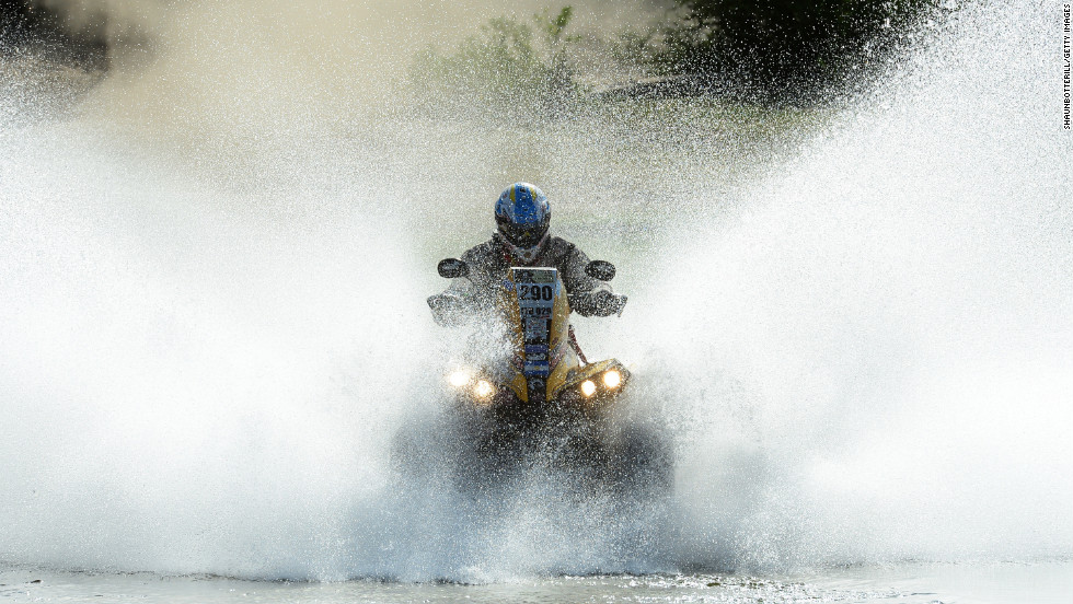 Claudio Clavigliasso of team CAN-AM ATV Argentina competes in Stage 10 from Cordoba to La Rioja, Argentina, on Tuesday, January 15.