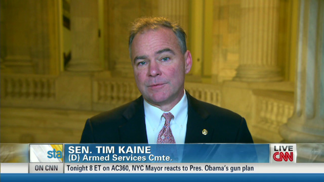 Kaine: Obama's gun orders 'reasonable'