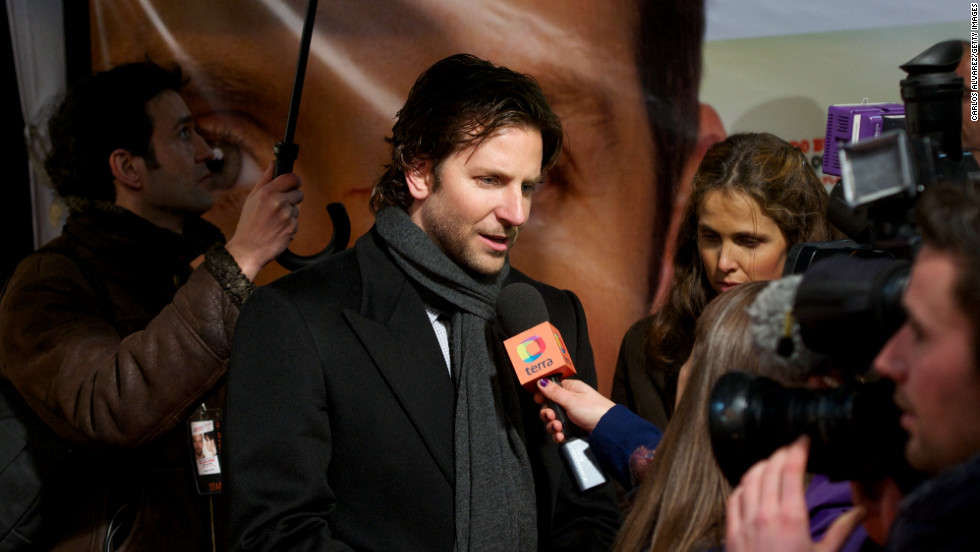 "Bradley Cooper attends the ""Silver Linings Playbook"" premiere in Madrid."
