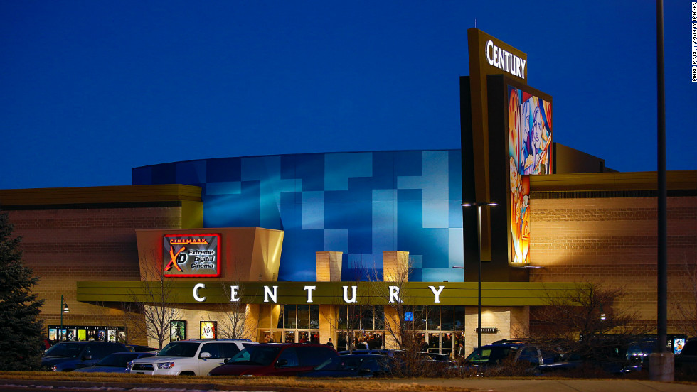 The Cinemark Century 16 Theaters reopened on Thursday, January 17, in Aurora, Colorado. It was the first time the theater has been open since the mass shooting on July 20, 2012, that killed 12 people and wounded dozens of others. The exterior facade of the theater has been remodeled since the shooting.
