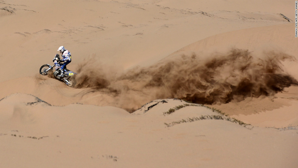 Frans Verhoeven of the Netherlands competes during Dakar 2013 between Fiambala, Argentina, and Copiapo, Chile, on January 17.