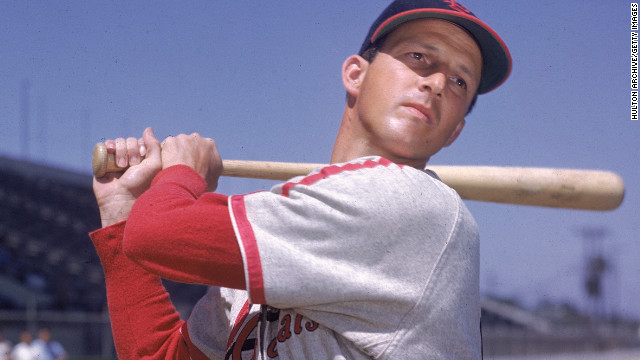 Photo portrait of Stan Musial in the 1960s.