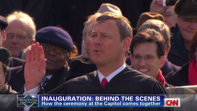 The inauguration: Behind the scenes
