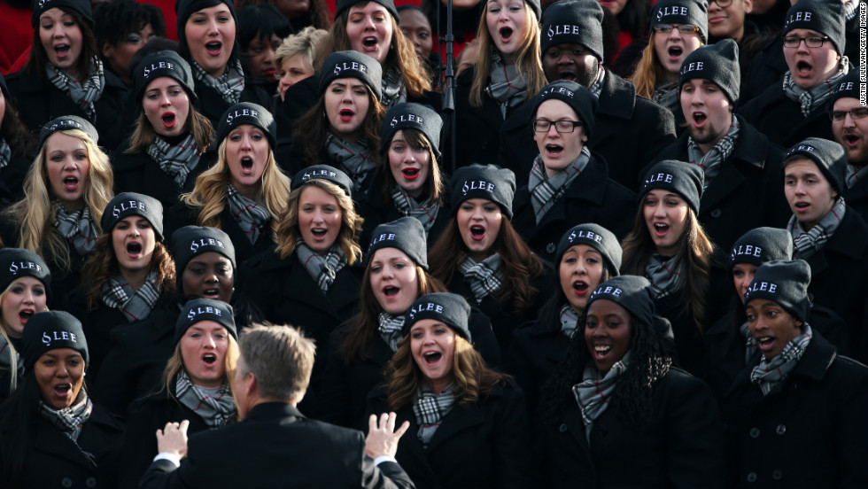 The Lee University Festival Choir from Cleveland, Tennessee, performs Monday on the West Front of the U.S. Capitol.