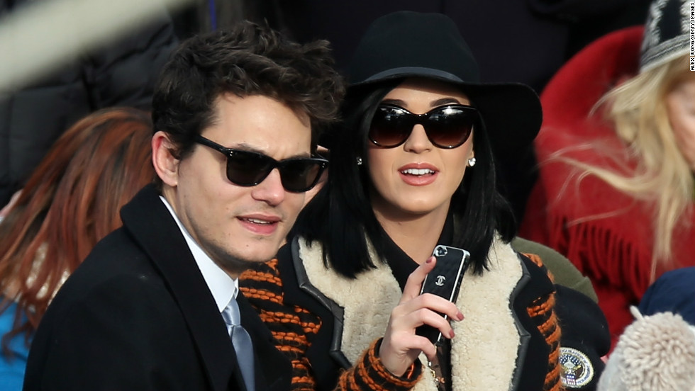 John Mayer and Katy Perry attend the presidential inauguration together.
