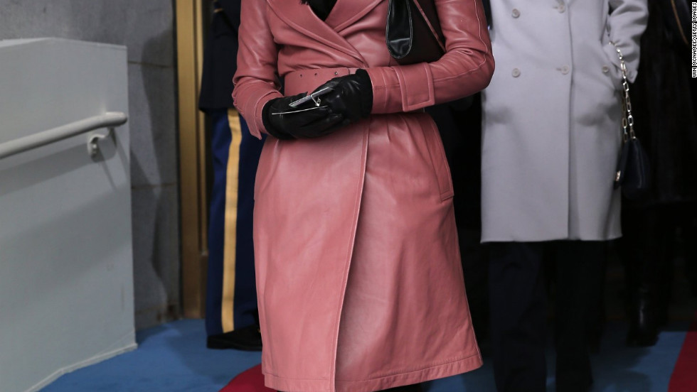 Eva Longoria arrives at the 2013 presidential inauguration in Washington, D.C.