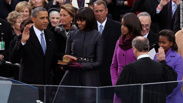 President Obama's public oath of office