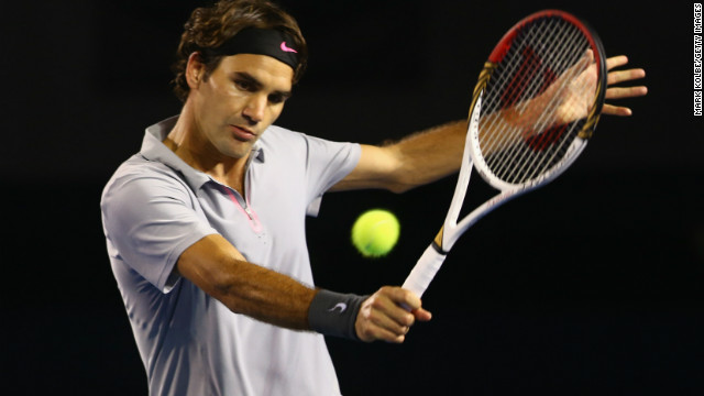 Roger Fedderer is bidding for an Open era-record fifth Australian Open crown.