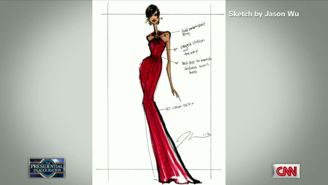 Exclusive sketch of Michelle Obama dress