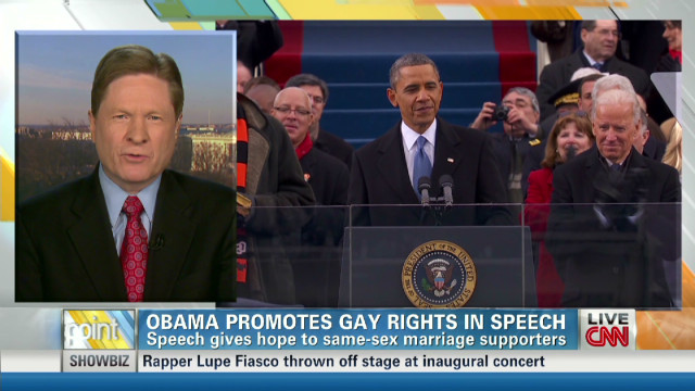 Obama promotes gay rights in speech