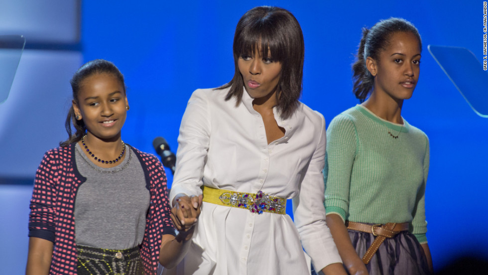 Michelle and her daughters attend the Kids' Inaugural Ball on Saturday, January 19.