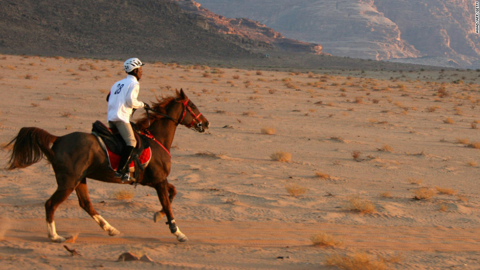 Endurance horse racing is a test of rider and horse across often stark and forbidding terrain over distances up to 160 kilometers.