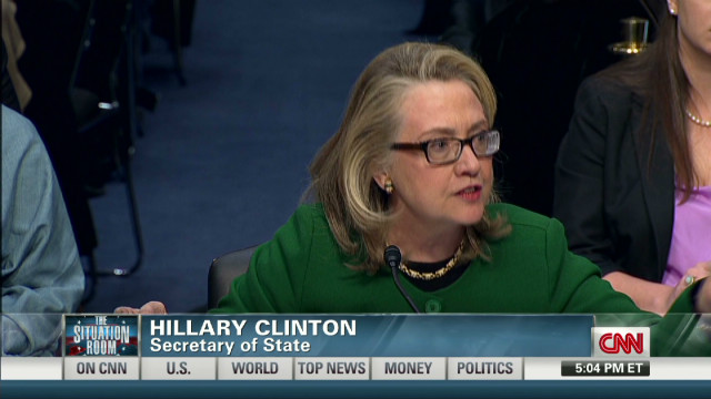 Clinton, senators clash over Benghazi