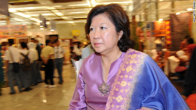 Indonesian Trade Minister Mari Pangestu arrives at a venue of an exhibition of small and medium scale industries in Jakarta on June 23, 2010.