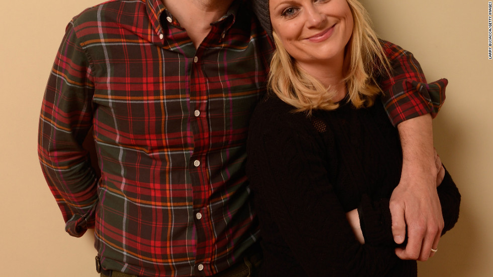 Adam Scott and Amy Poehler pose for a portrait during the 2013 Sundance Film Festival.
