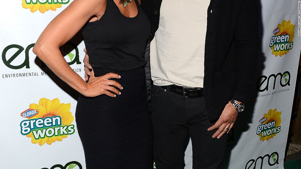 Mario Lopez and Courtney Mazza attend an event in Los Angeles.