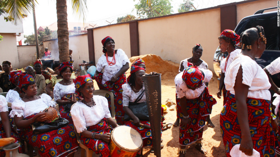 A gathering of Igbo women sing traditional songs. (Courtesy: Chika Oduah.)