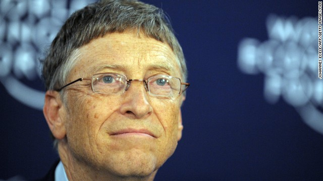 Microsoft co-founder turned global philanthropist Bill Gates attends a press conference at the World Economic Forum in Davos on January 24, 2013. The meeting gathers some of the world's leading politicians and economists and is