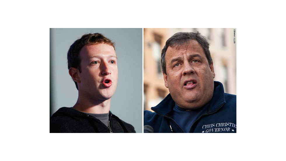 Strange bedfellows? Maybe not. In February, Zuckerberg hosted a fundraiser for New Jersey Gov. Chris Christie at his California home. Guests included former Secretary of State Condoleezza Rice.