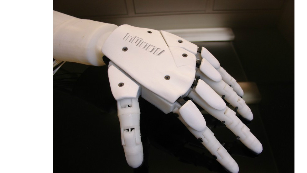 The whole project began when Langevin was commissioned to make a prosthetic hand for a commercial photo shoot. The 41-year-old Frenchman thought it a prime opportunity to test his new 3D printer.