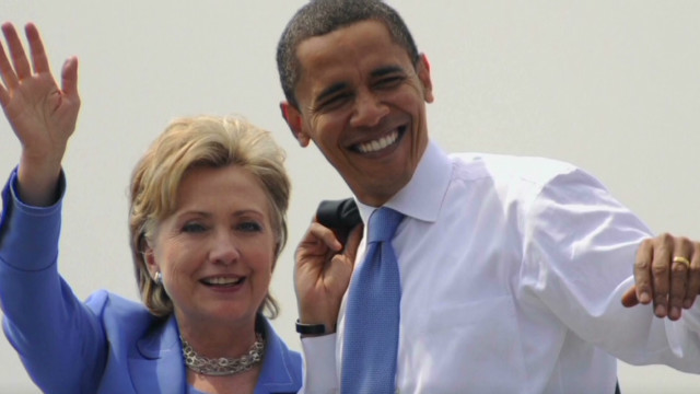 Clinton and Obama: Rivals to partners