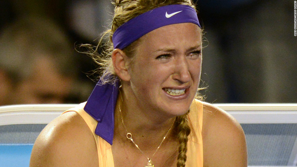 World No. 1 Victoria Azarenka broke down in tears after beating Li Na 4-6 6-4 6-3 in an incident-packed final of the Australian Open in Melbourne.