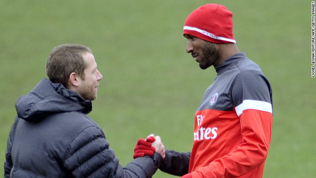 Former France international Nicolas Anelka, right, has been training with one of his former clubs, Paris Saint-Germain.
